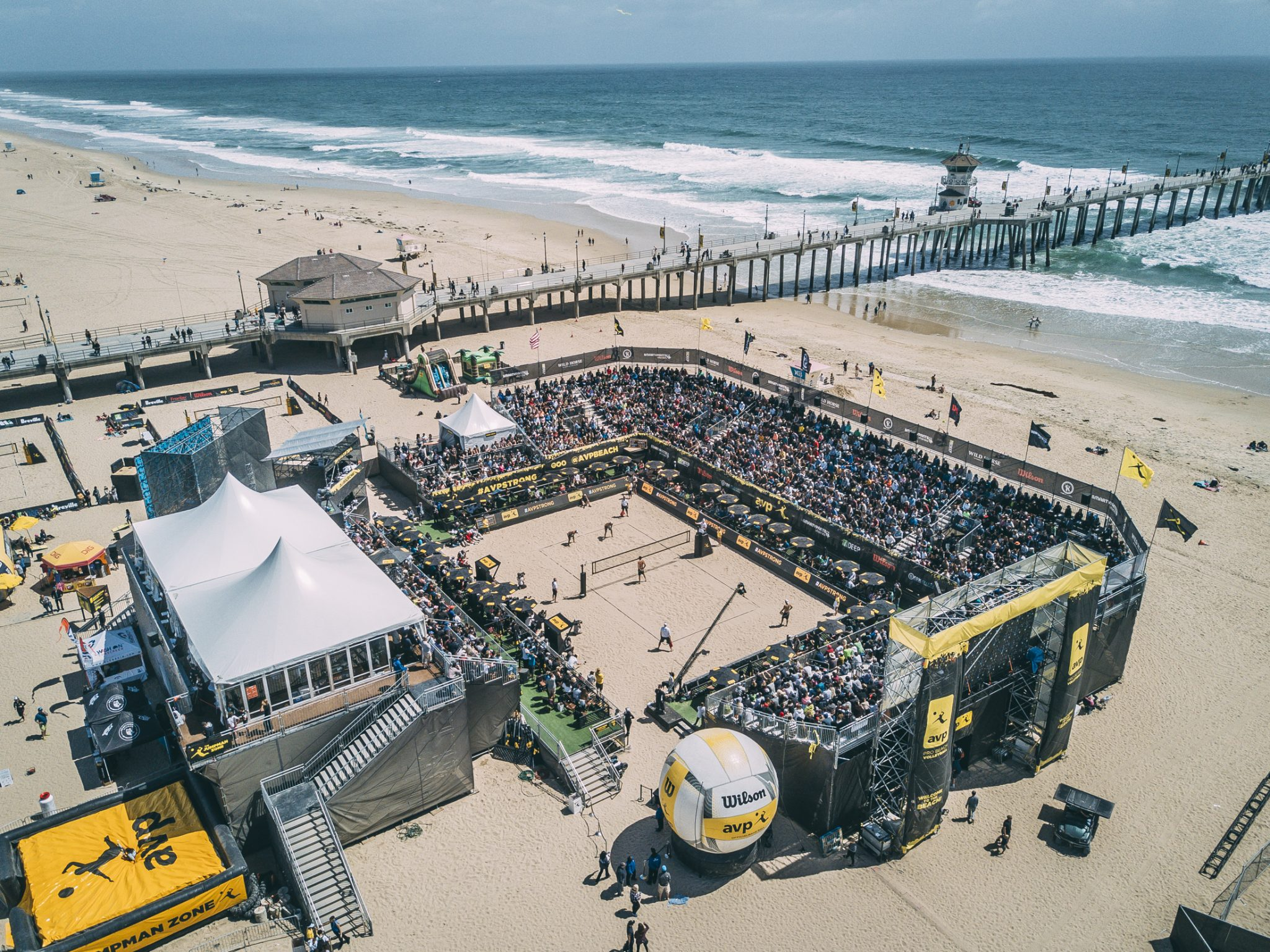Drone Images of the AVP Huntington Beach Open 2017 by Joshua Glazebrook