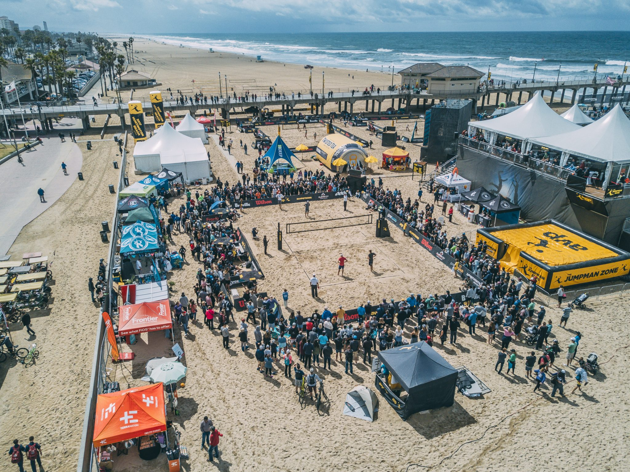 Drone Photos of the AVP Huntington Beach Open 2017