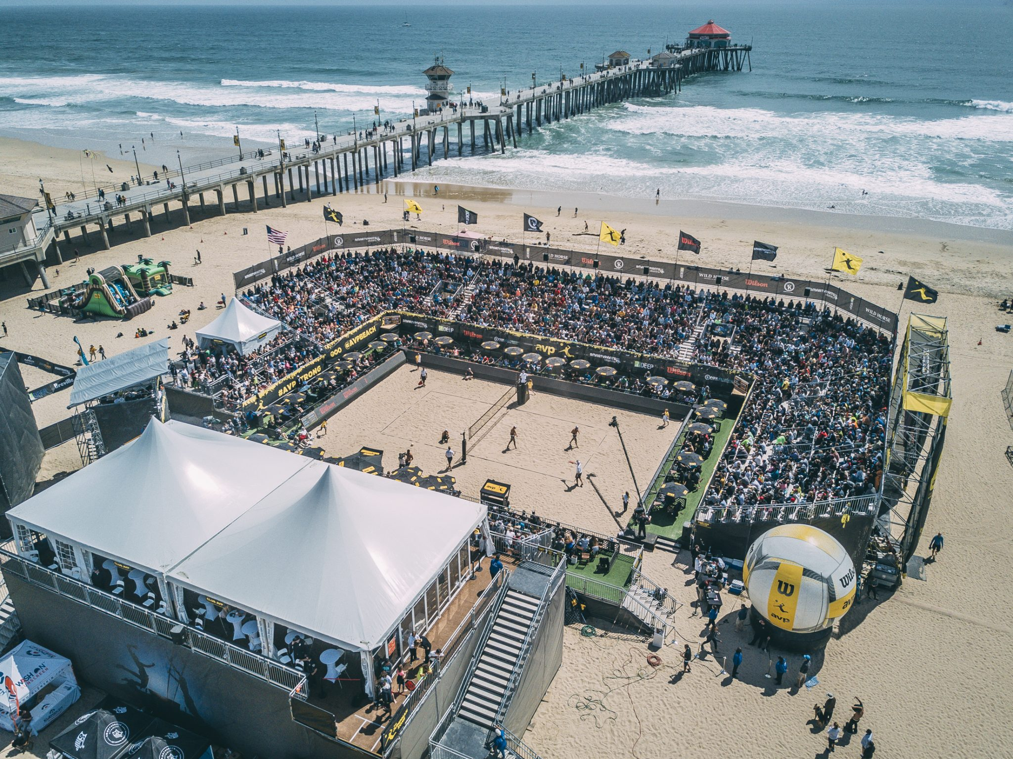 Drone Photos of the AVP Huntington Beach Open 2017 By Josh Glazebrook